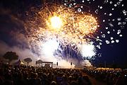 Mannheim. 29.07.17 | ID 047 |<br /> Maimarktgel&auml;nde. Pyrogames. Feuerwerker in vier Teams z&uuml;nden ihre Feuerwerkchoreografien ab und lassen sich vom Publikum bewerten. <br /> <br /> Bild: Markus Pro&szlig;witz 29JUL17 / masterpress