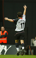 25/9/2004<br />FA Barclays Premiership - Fulham v Southampton - Craven Cottage<br />Fulham's Tomasz Radzinski celebrates after scoring the opening goal<br />Photo:Jed Leicester/BPI (back page images)