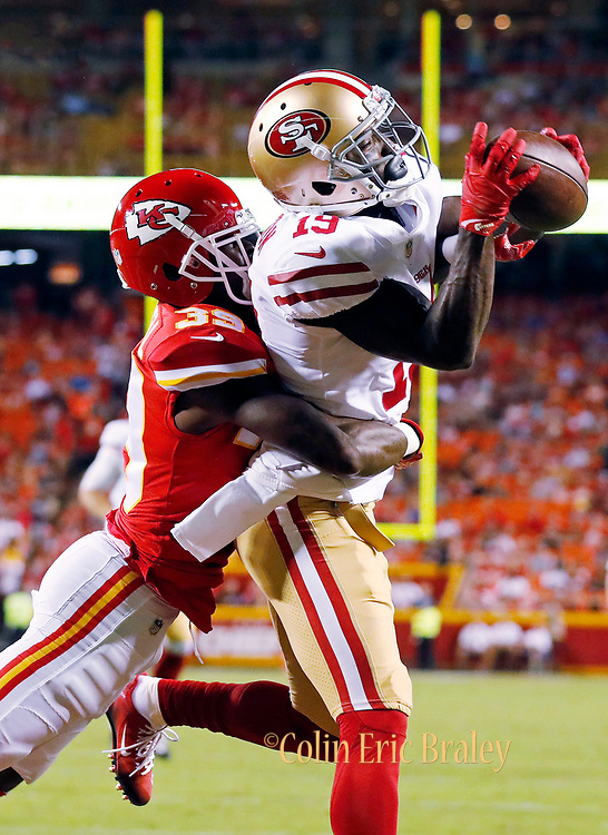 The Kansas City Chiefs play the San Francisco 49ers in their first preseason  , NFL football game at Arrowhead Stadium in Kansas City, Missouri, Friday, Aug. 11, 2017. Photo by Colin E Braley