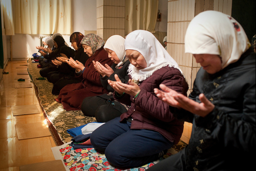 Prayer at the Beidajie Women's Mosque in Zhengzhou, Henan province, China.