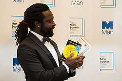 Guildhall, London, October 13th 2015. Winner of the Man Booker Prize for Fiction 2015, Jamaican writer Marlon James, author of A Brief History of Seven Killings published by Oneworld Publications. The Novel is inspired by the real-life attempted murder of Bob Marley. James is the first Jamaican to win the coveted prize.