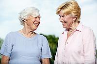 seniors having good time or working