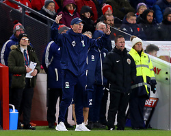 Middlesbrough manager Tony Pulis cuts a frustrated figure - Mandatory by-line: Robbie Stephenson/JMP - 02/03/2018 - FOOTBALL - Riverside Stadium - Middlesbrough, England - Middlesbrough v Leeds United - Sky Bet Championship