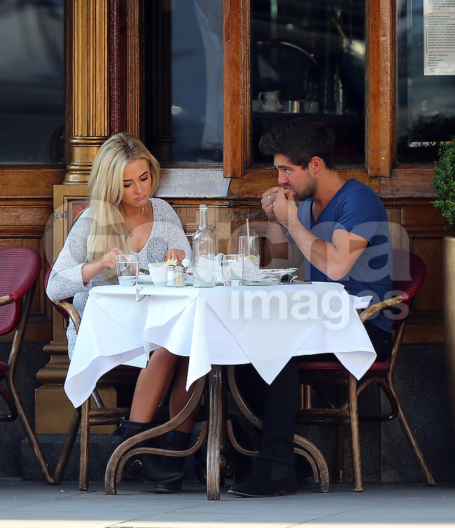 Made In Chelsea's love rat Alex Mytton out enjoying a lunch with model Nicola Hughes at a restaurant in Chelsea, London, UK. 08/09/2014<br />