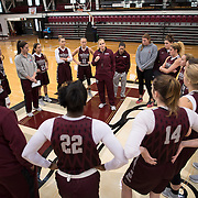 December 16, 2016 - New York, NY :  Fordham University Women's Basketball coach Stephanie Gaitley, center, leads the team in practice in Rose Hill Gymnasium on Friday. CREDIT: Karsten Moran for The New York Times