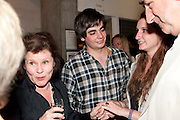 IMELDA STAUNTON; JACK CARTER; BESSIE CARTER; JIM CARTER;, Press night for Edwards Albee's A Delicate Balance at the Almeida Theatre. London. 12 May 2011. <br /> <br />  , -DO NOT ARCHIVE-© Copyright Photograph by Dafydd Jones. 248 Clapham Rd. London SW9 0PZ. Tel 0207 820 0771. www.dafjones.com.