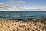 Lake Superior wilderness beach with fall color in Michigan's Upper Peninsula.