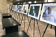 Warsaw, Poland - 2017 April 07: Photo exhibition &quot;Big Blue&quot; of Adam Nurkiewicz while The Day of Health - science conference in the National Library on April 07, 2017 in Warsaw, Poland.<br /> <br /> Mandatory credit:<br /> Photo by &copy; &copy; Adam Nurkiewicz / Mediasport / Mediasport<br /> <br /> Picture also available in RAW (NEF) or TIFF format on special request.<br /> <br /> Any editorial, commercial or promotional use requires written permission from the author of image.<br /> <br /> Adam Nurkiewicz declares that he has no rights to the image of people at the photographs of his authorship.