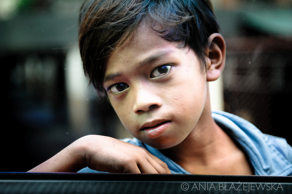 Philippines, Manila. Street children.