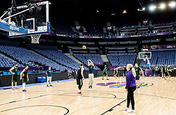 Team Slovenia at training session during of the FIBA EuroBasket 2017 at Hartwall Arena in Helsinki, Finland on September 4, 2017. Photo by Vid Ponikvar / Sportida
