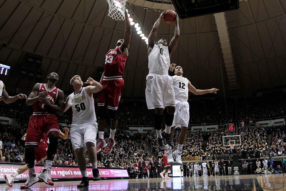 15 February 2014: Purdue Boilermakers guard Terone Johnson (0) as the Indiana Hoosiers played the Purdue Boilermakers in a college basketball game in West Lafayette, Ind.
