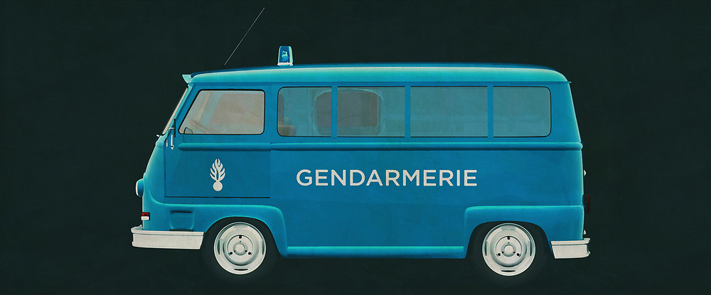 The 1965 Renault Estafette 800 has served not only in France but far beyond it as the van for all kinds of companies and services. Here is a police version of the 1965 Renault Estafette 800.<br />