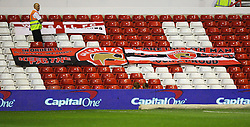 Genreral view of Walsall banners - Mandatory byline: Jack Phillips / JMP - 07966386802 - 11/08/15 - FOOTBALL - The City Ground - Nottingham, Nottinghamshire - Nottingham Forest v Walsall - Football League Cup Round 1