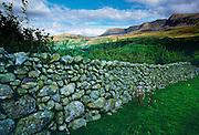 Dry stone wall near Cader Idris in Wales