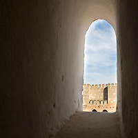 Loophole of the Alcazaba, Alhambra, Granada, Spain