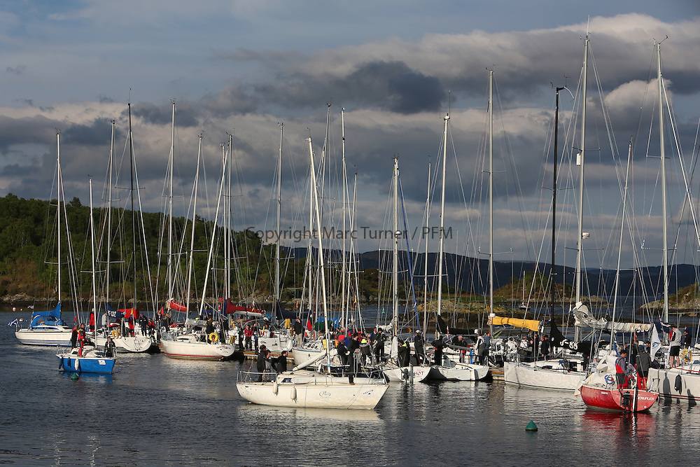 The Silvers Marine Scottish Series 2014, organised by the  Clyde Cruising Club,  celebrates it's 40th anniversary.<br /> <br /> Tarbert Harbour pontoons<br /> Credit : Marc Turner / PFM