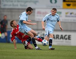 Carl Finnigan & Alex MacDonald.<br /> Vaduz v Falkirk FC train at the Rheinpark Stadium for their Europa League second-round qualifier against Vaduz in Liechtenstein.<br /> ©2009 Michael Schofield. All Rights Reserved.