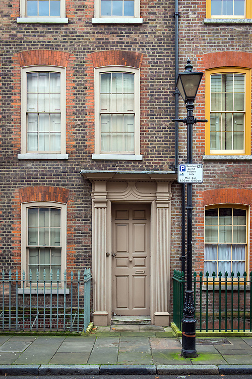 East London's trendy Shoreditch area.<br /> Photos shows a house on a street off Brick Lane.