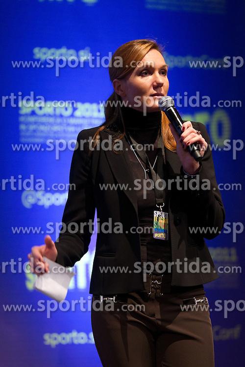 Petra Majdic during sports marketing conference Sporto 2011, on November 21, 2011 in Hotel Slovenija, Portoroz / Portorose, Slovenia. (Photo By Vid Ponikvar / Sportida.com)