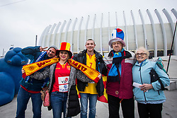 Macedonian fans before handball match between National teams of Germany and Montenegro on Day 2 in Preliminary Round of Men's EHF EURO 2018, on January 13, 2018 in Arena Zagreb, Zagreb, Croatia. Photo by Ziga Zupan / Sportida