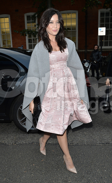 Daisy Lowe attends the GILES show during London Fashion Week Spring Summer 2015 in London, UK. 15/09/2014<br />