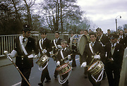 Boys Brigade band on parade, UK, 1963