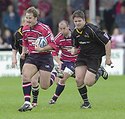 18/05/2002.Sport -Rugby Union- Zurich Championship Quarter final.Gloucester vs Newcastle.Gloucester's Andy Gomersall  go's through the gap ..[Mandatory Credit, Peter Spurier/ Intersport Images].
