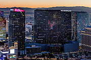 Aerial view of Cosmopolitan of Las Vegas Hotel the Strip, Las Vegas, Nevada, USA