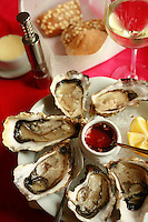 oysters at Villa Margot in Quiberon...photograph by Owen Franken for the NY Times..July 7, 2008..