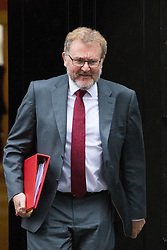 Downing Street, London, May 10th 2016. Scotland Secretary David Mundell leaves the weekly cabinet meeting in Downing Street.
