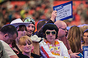 Fans in fancy dress on the final day during the Coral UK Open at Butlins, Minehead, United Kingdom on 6 March 2016. Photo by Shane Healey.