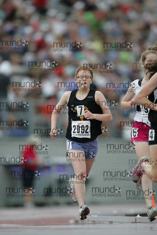 (London, Ontario}---04 June 2010) \\ the girls 1500m final at the 2010 OFSAA Ontario High School Track and Field Championships. Photograph copyright Sean Burges / Mundo Sport Images, 2010.