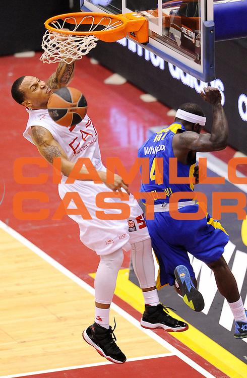 DESCRIZIONE : Milano Eurolega Euroleague 2013-14 EA7 Emporio Armani Milano Maccabi Electra Tel Aviv Gara 2<br /> GIOCATORE : Curtis Jerrells<br /> CATEGORIA : Schiacciata<br /> SQUADRA : EA7 Emporio Armani Milano<br /> EVENTO : Eurolega Euroleague 2013-2014<br /> GARA : EA7 Emporio Armani Milano Maccabi Electra Tel Aviv Gara 2<br /> DATA : 18/04/2014<br /> SPORT : Pallacanestro <br /> AUTORE : Agenzia Ciamillo-Castoria/A.Giberti<br /> Galleria : Eurolega Euroleague 2013-2014  <br /> Fotonotizia : Milano Eurolega Euroleague 2013-14 EA7 Emporio Armani Milano Maccabi Electra Tel Aviv Gara 2<br /> Predefinita :
