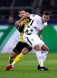 Borussia Dortmund's Gonzalo Castro (left) and Tottenham Hotspur's Harry Winks battle for the ball