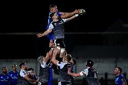 Guinness PRO14, The Gnoll, Neath, UK 21/02/2020<br /> Ospreys vs Leinster Rugby<br /> Olly Cracknell of Ospreys and Ross Molony of Leinster Rugby compete at the lineout<br /> Mandatory Credit ©INPHO/Ryan Hiscott