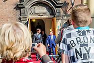 DEN HAAG - Minister-president Rutte ontvangt minister-president Kucinskis van Letland voor een werklunch op het ministerie van Algemene Zaken.