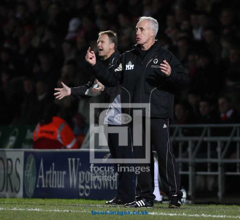 Doncaster - Saturday December 20th 2008:Mick McCarthy<br /> Manager of Wolverhampton Wanderers &amp; Sean O'Driscoll Manager of Doncaster Rovers during the Coca Cola Championship match at The Keepmoat Stadium Doncaster. (Pic by Steven Price/Focus Images)