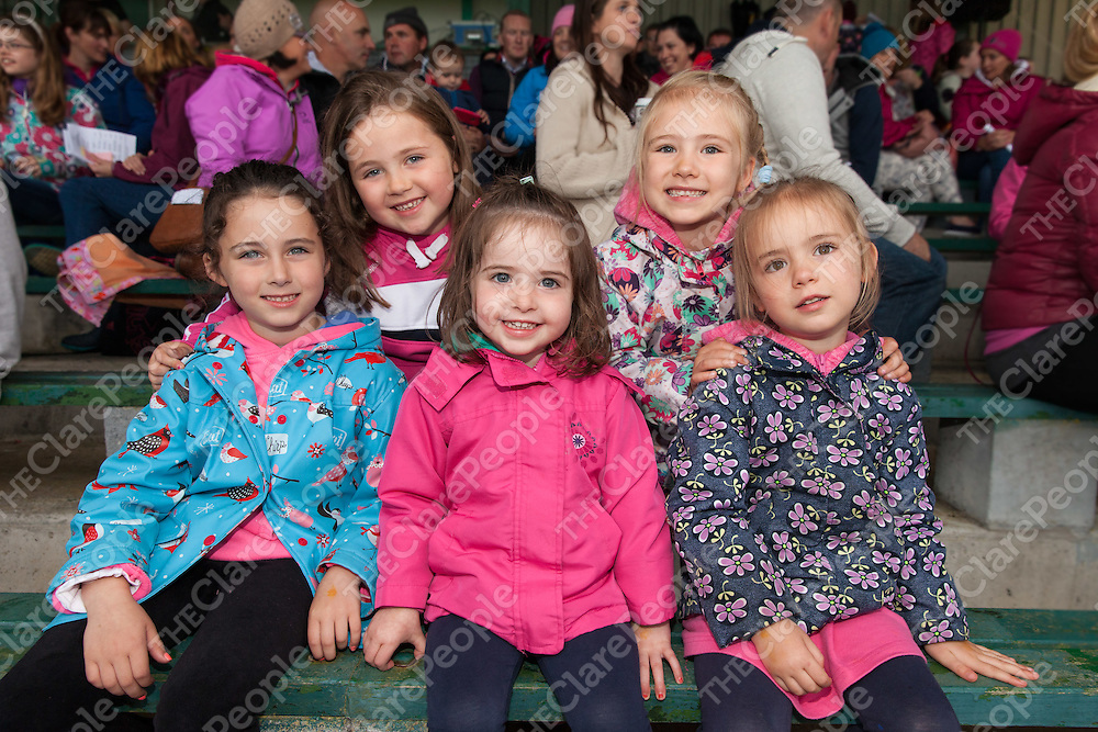 Grace and Aoife Lorrigan, , Lily and Katie Larkin and Kylie McMahon from Kilmihill at the Kilmihil Festival of Fun Pig Racing 2015