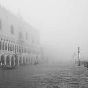 Monochrome  Venice with Fog