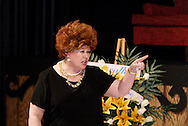 Debra Kent during a dress rehearsal of Sordid Lives at the Dayton Theatre Guild in Dayton, Thursday, June 10, 2010.