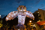 Inaugural Parliment of Owls Lantern Parade in Midtown Atlanta, August 3, 2018