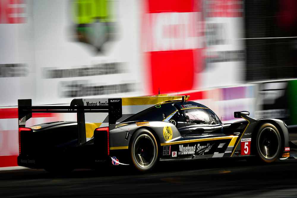 #5 Action Express Racing Cadillac DPi, P: Joao Barbosa, Filipe Albuquerque<br /> Friday 13 April 2018<br /> BUBBA burger Sports Car Grand Prix at Long Beach<br /> Verizon IndyCar Series<br /> Streets of Long Beach CA USA<br /> World Copyright: Scott R LePage<br /> LAT Images