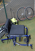 Queens Club, GREAT BRITAIN,   Wheel chair tennis equipment, on display at the joint initiative between British Paralympic Association and Deloitte  of 'Parasport' online information service, on Thur's.  03.05.2007. London. [Credit: Peter Spurrier/Intersport Images]