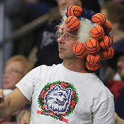 A UConn Huskies fan during the UConn Vs DePaul, NCAA Women's College basketball game at Webster Bank Arena, Bridgeport, Connecticut, USA. 19th December 2014