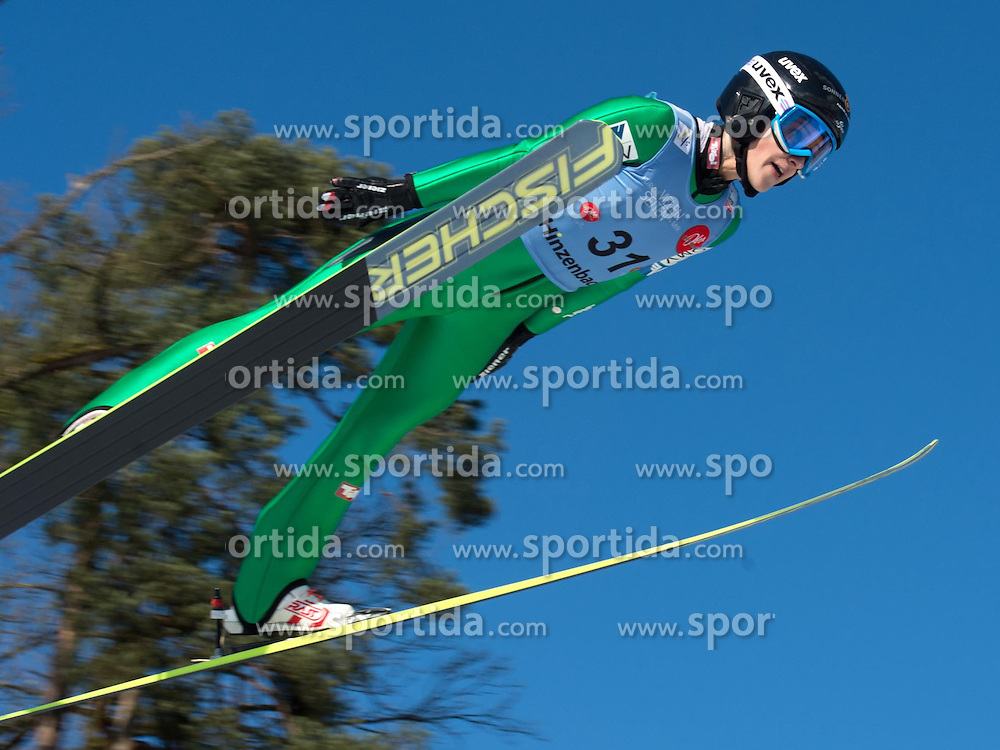 31.01.2015, Energie AG Skisprung Arena, Hinzenbach, AUT, FIS Weltcup Ski Sprung, Hinzenbach, Damen, Wettkampf im Bild Eva Pinkelnig (AUT) // during FIS Ski Jumping World Cup Ladies at the Energie AG Skisprung Arena, Hinzenbach, Austria on 2015/01/31. EXPA Pictures © 2015, PhotoCredit: EXPA/ Reinhard Eisenbauer