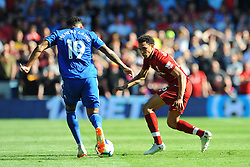 Nathaniel Mendez-Laing of Cardiff City tries to get past Trent Alexander-Arnold of Liverpool - Mandatory by-line: Nizaam Jones/JMP - 21/04/2019 -  FOOTBALL - Cardiff City Stadium - Cardiff, Wales -  Cardiff City v Liverpool - Premier League