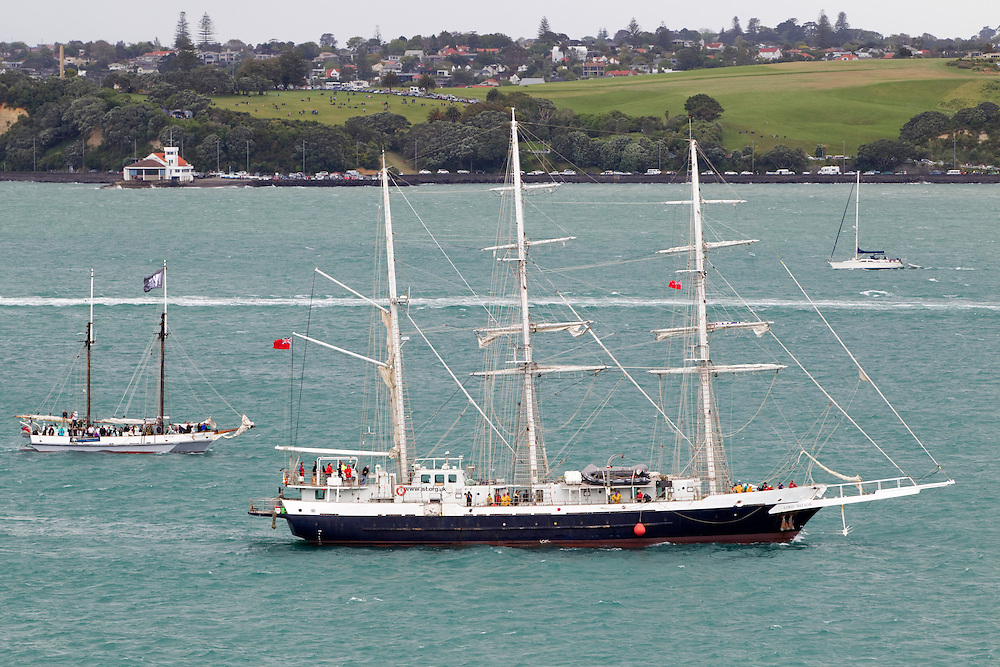 Lord Nelson from the United Kingdom, one of the tall ships to arrive for the Tall Ships Festival organised by the Maritime Museum, Auckland, New Zealand, Friday, October 25, 2013.  Credit:SNPA / David Rowland