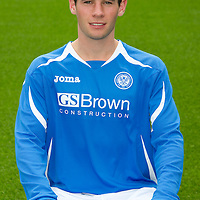 St Johnstone FC...Season 2011-12<br /> Kevin Moon<br /> Picture by Graeme Hart.<br /> Copyright Perthshire Picture Agency<br /> Tel: 01738 623350  Mobile: 07990 594431