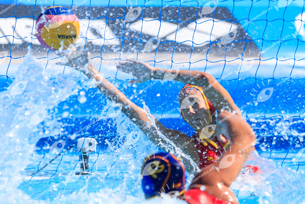 Laura Ester of Spain <br /> USA (White cap) vs Spain (Blue Cap) Water Polo - Preliminary round<br /> Day 05 18/07/2017 <br /> XVII FINA World Championships Aquatics<br /> Alfred Hajos Complex Margaret Island  <br /> Budapest Hungary July 15th - 30th 2017 <br /> Photo @Marcelterbals/Deepbluemedia/Insidefoto