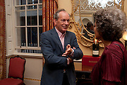 SIMON JENKINS; LADY OWEN, David Campbell and Knopf host the 20th Anniversary of the revival of Everyman's Library. Spencer House. St. James's Place. London. 7 July 2011. <br /> <br />  , -DO NOT ARCHIVE-© Copyright Photograph by Dafydd Jones. 248 Clapham Rd. London SW9 0PZ. Tel 0207 820 0771. www.dafjones.com.